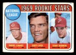 1969 Topps #624   -  Darrel Chaney / Duffy Dyer / Terry Harmon NL Rookies Front Thumbnail