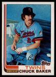1982 Topps #253  Chuck Baker  Front Thumbnail