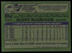 1982 Topps #617  Scott McGregor  Back Thumbnail