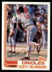 1982 Topps #617  Scott McGregor  Front Thumbnail