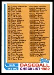 1982 Topps #789   Checklist Front Thumbnail