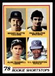 1978 Topps #707   -  Paul Molitor / Alan Trammell / Mickey Klutts / U.L. Washington Rookie Shortstops Front Thumbnail