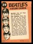 1964 Topps Beatles Color #39   John and paul interviewing Back Thumbnail