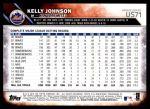 2016 Topps Update #71  Kelly Johnson  Back Thumbnail