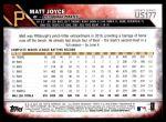 2016 Topps Update #177  Matt Joyce  Back Thumbnail