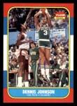 1986 Fleer #50  Dennis Johnson  Front Thumbnail