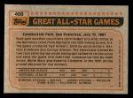 1983 Topps #400   -  Dave Concepcion All-Star Back Thumbnail