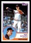 1983 Topps #497  Rick Sutcliffe  Front Thumbnail