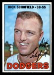 1967 Topps #381  Dick Schofield  Front Thumbnail