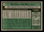 1979 Topps #400  Jim Rice  Back Thumbnail