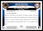2011 Topps Update #4  Brian McCann  Back Thumbnail