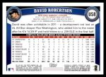 2011 Topps Update #8  David Robertson  Back Thumbnail