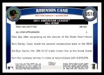 2011 Topps Update #18  Robinson Cano  Back Thumbnail