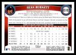 2011 Topps Update #102  Sean Burnett  Back Thumbnail
