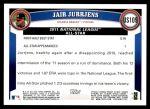 2011 Topps Update #109  Jair Jurrjens  Back Thumbnail