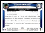 2011 Topps Update #130  David Robertson  Back Thumbnail