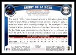 2011 Topps Update #209  Rubby De La Rosa  Back Thumbnail