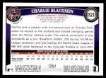 2011 Topps Update #231  Charlie Blackmon  Back Thumbnail