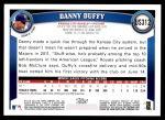 2011 Topps Update #312  Danny Duffy  Back Thumbnail