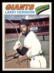 1977 O-Pee-Chee #169  Larry Herndon  Front Thumbnail