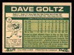 1977 O-Pee-Chee #73  Dave Goltz  Back Thumbnail