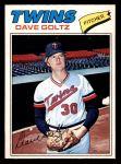 1977 O-Pee-Chee #73  Dave Goltz  Front Thumbnail