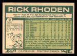 1977 O-Pee-Chee #57  Rick Rhoden  Back Thumbnail