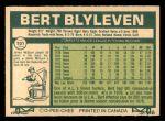 1977 O-Pee-Chee #101  Bert Blyleven  Back Thumbnail