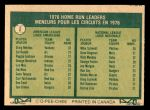 1977 O-Pee-Chee #2   -  Graig Nettles / Mike Schmidt HR Leaders Back Thumbnail