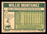 1977 O-Pee-Chee #79  Willie Montanez  Back Thumbnail