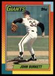 1990 Topps Traded #16 T John Burkett  Front Thumbnail
