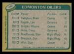 1980 Topps #182   -  Wayne Gretzky Oilers Leaders Back Thumbnail