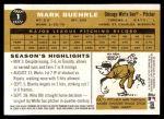 2009 Topps Heritage #1  Mark Buehrle  Back Thumbnail