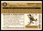 2009 Topps Heritage #26  Miguel Tejada  Back Thumbnail