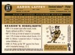 2009 Topps Heritage #51  Aaron Laffey  Back Thumbnail