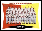 2009 Topps Heritage #151   Giants Team Checklist Front Thumbnail
