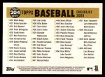 2009 Topps Heritage #204   Orioles Team Checklist Back Thumbnail