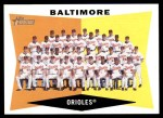 2009 Topps Heritage #204   Orioles Team Checklist Front Thumbnail
