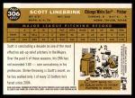 2009 Topps Heritage #306  Scott Linebrink  Back Thumbnail