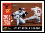 2009 Topps Heritage #385   -  Chase Utley World Series Front Thumbnail