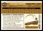 2009 Topps Heritage #415  Jayson Werth  Back Thumbnail