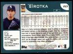 2001 Topps #153  Mike Sirotka  Back Thumbnail