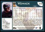 2001 Topps #272  Tony Womack  Back Thumbnail