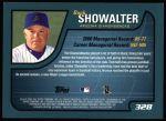 2001 Topps #328  Buck Showalter  Back Thumbnail
