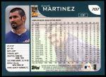 2001 Topps #707  Dave Martinez  Back Thumbnail