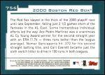 2001 Topps #756   Boston Red Sox Team Back Thumbnail
