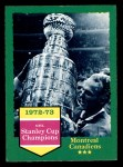 1973 O-Pee-Chee #198   Canadiens Champs Front Thumbnail