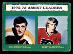 1973 O-Pee-Chee #134   -  Bobby Clarke Assists Leaders Front Thumbnail