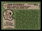 1978 Topps #182  John Fitzgerald  Back Thumbnail