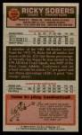 1976 Topps #102  Ricky Sobers  Back Thumbnail